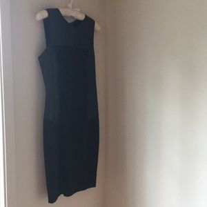 BEBE leather dress